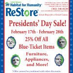 Presidents' Day Website Ad